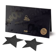 Пэстис - стикини Bijoux Indiscrets - Flash Star Black, наклейки на соски